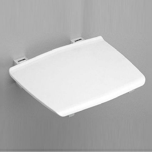 Lakes Series 150 Shower Seat - 325mm x 325mm  - Chrome And White